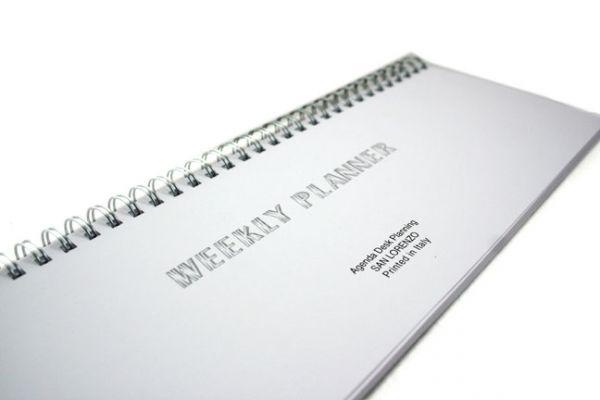 San Lorenzo - Refill for Regenerated Leather Desk Planner