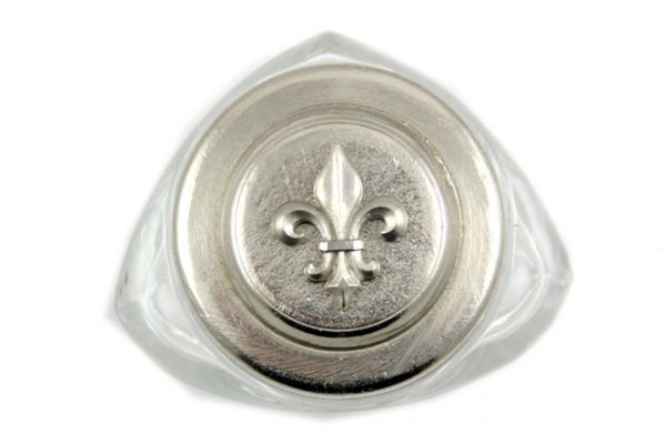 Ink Bottle - Pewter Top - Fleur de Lis Design