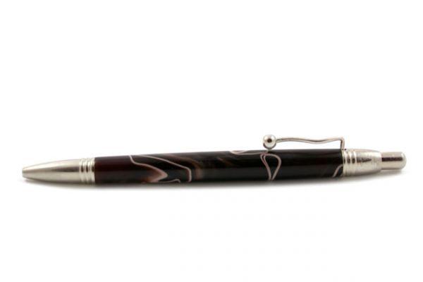 Jean-Pierre Lepine Indigo Classic Murano Ballpoint - Brown w/ Beige Filet