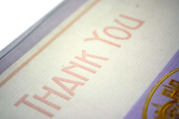 G Lalo Bordered Thank You Card and Envelope Set