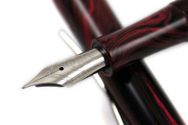 Faggionato - Pétrarque - Fountain Pen - Ebonite Black and Red