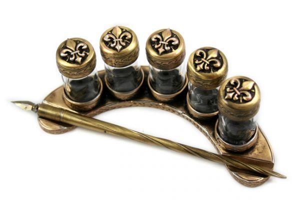 Crescent Five Ink bottle Set - Bronzed