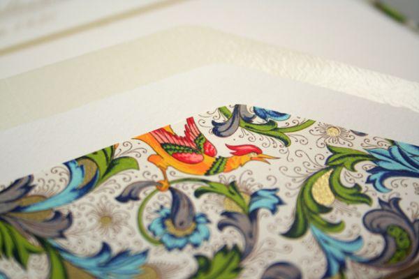 Rossi Bird Florentine Stationery Sheets and Envelopes Set