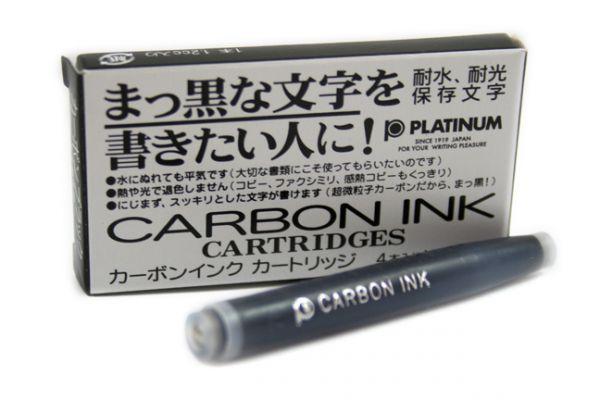 Platinum - Fountain Pen Ink Cartridges - Carbon Ink - Black