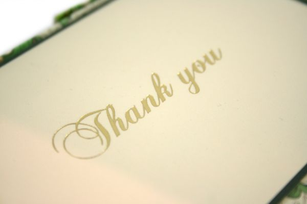 Rossi - Green Florentine - Thank You Cards