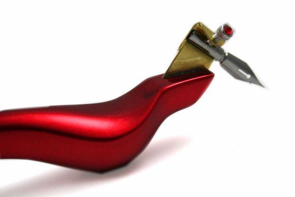 """Bukvawood """"Candy"""" Red Apple Oblique Nib Holder - Standard"""