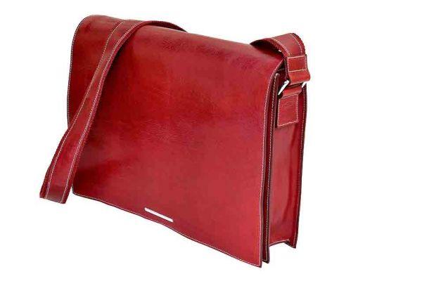 Munari - Leather Messenger Bag Vachetta