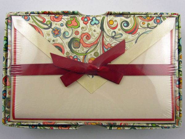 Rossi - Art Nouveau In Red - Medium Fold Over Cards