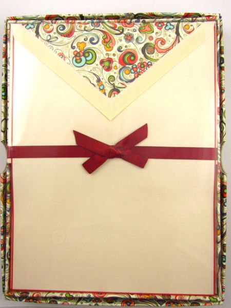 Rossi - Art Nouveau In Red - Stationery