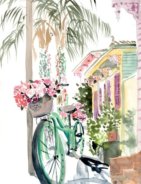 Lyla Clayre Studio - Bicycle in the Marigny