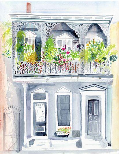 Lyla Clayre Studio - Blooming Balcony