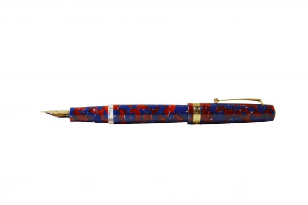 Armando Simoni Club - Studio Fountain Pen - Blue Coral with Gold Trim