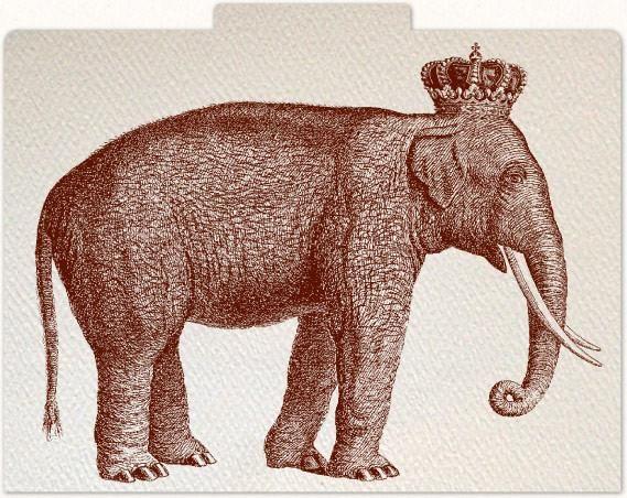 Alexa Pulitzer - Royal Elephant File Folders