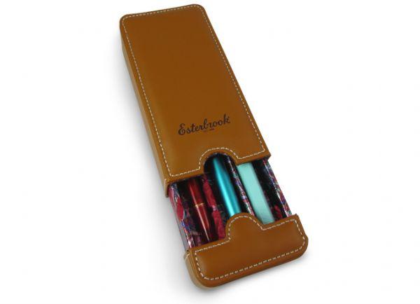 Esterbrook Triple Pen Nook - Tan Saddle Brown