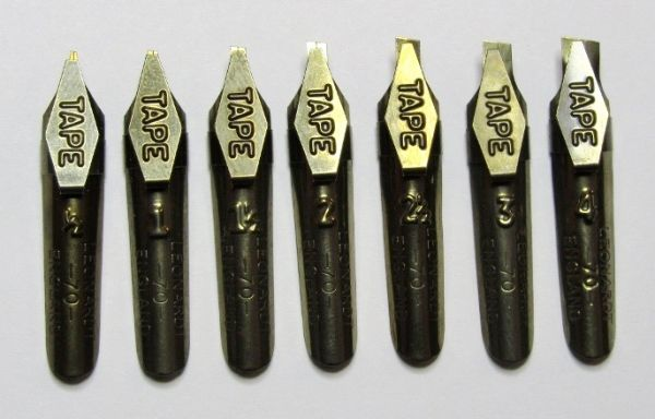 Ornamental Pen Nib: Leonardt 70