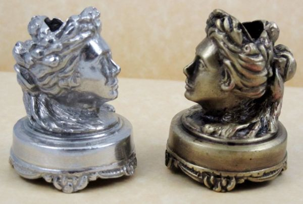 Pewter or Bronzed Pewter Head Pen Stand