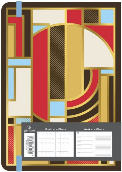 13 Month Undated Planner - Frank Lloyd Wright Gilded