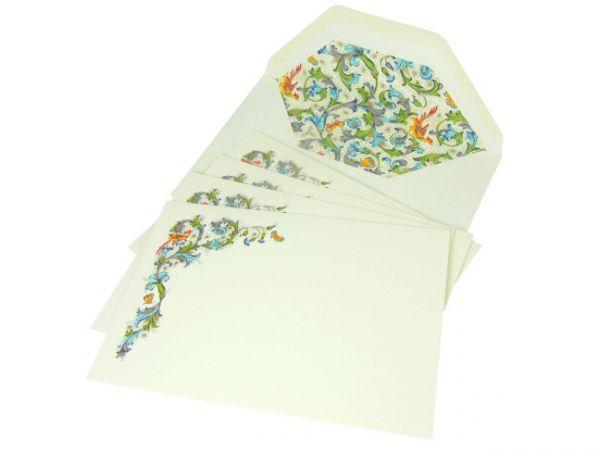 Rossi Bird Florentine Medium Fold Over Cards