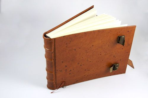 Hard Cover, Leather Bound Sketching Journal with Two Buckles