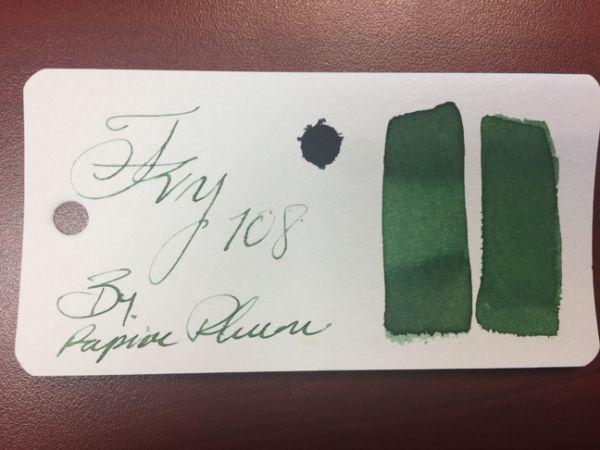 Papier Plume - Chicago Pen Show Fountain Pen Inks - Ivy 108