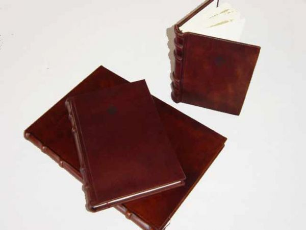 Hard Cover, Leather Bound Address Book - Old World Traditional Spine