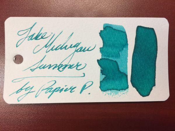 Papier Plume - Chicago Pen Show Fountain Pen Inks - Lake Michigan Summer