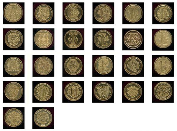 Ceramic Handle Manuscript Initial Wax Seals