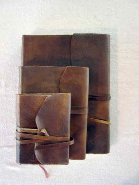 Softcover Leather Sketching Journal with Wraparound Strap