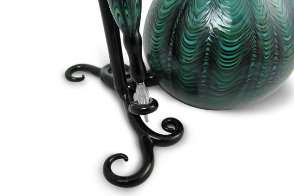 Murano Glass Inkwell Set: Green Lace