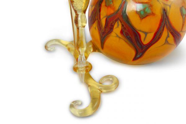Murano Glass Inkwell Set - Transparent Orange