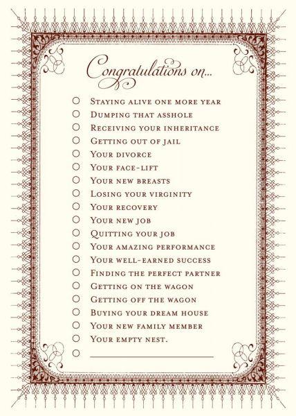 Alexa Pulitzer - Congratulations Greeting Card