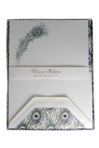 Rossi - Peacock - Full Stationary Sheets and Envelopes