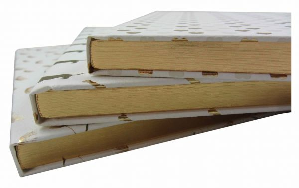 Rossi, Hard Cover, Notebook, Gold  Hearts, Gilt Edges