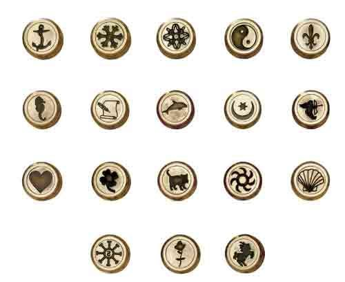 One Sided Interchangeable Coins for Bortoletti Wax Seal - Designs