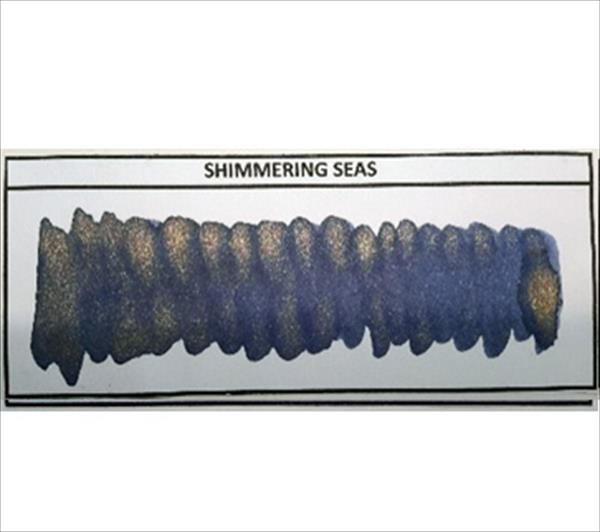 Diamine - Shimmertastic - Shimmering Fountain Pen Ink - Shimmering Seas