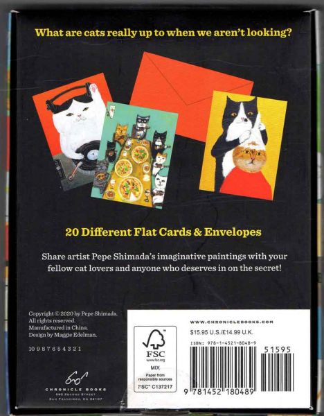 Chronicle Books - The Secret Life of Cats - Notecards with Envelopes