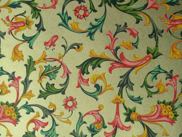 Rossi - Wrapping Paper - Gold Traditional Florentine