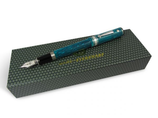 Wahl-Eversharp Decoband Gold Seal Oversized Jade Fountain Pen with Rhodium Trim