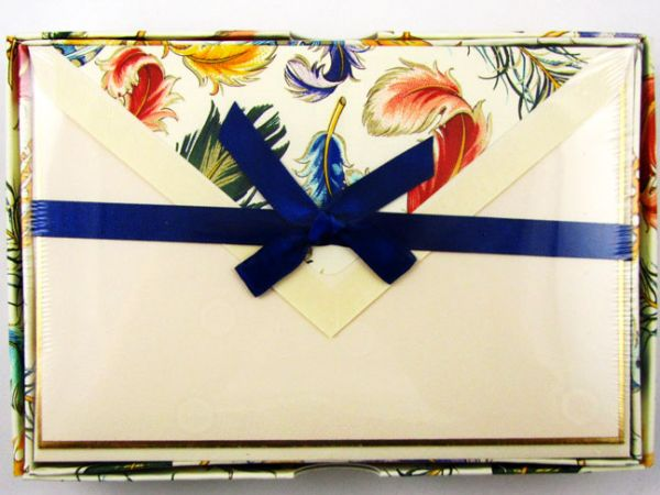 Rossi - Feathers - Medium Fold Over Cards