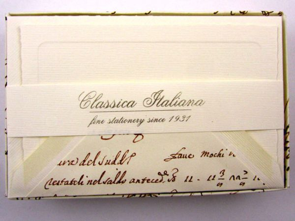 Rossi - Handwriting - Small Plain Stationery
