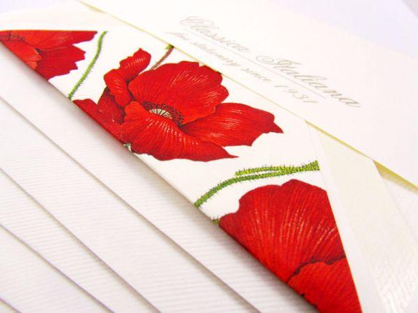 Rossi - Poppies - Medium Fold Over Cards