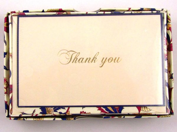 Rossi - Arabesque - Small Fold Over Thank You Cards