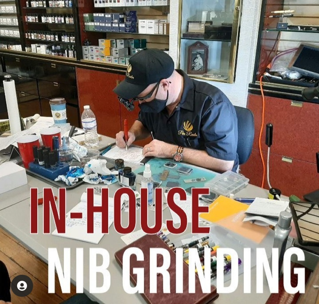 Live Nib Grinding in the Shop with Kirk Spee! 3 Days Only!
