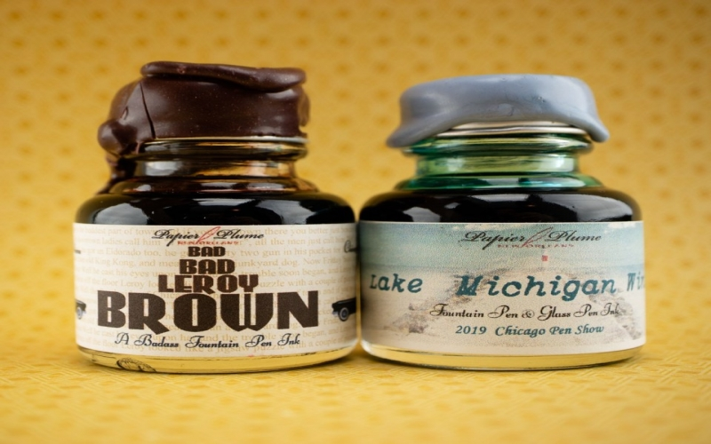 2019 Chicago Pen Show Inks:  Introducing Lake Michigan Summer and Bad Bad Leroy Brown!